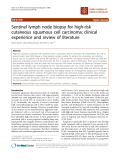 """báo cáo khoa học: """"Sentinel lymph node biopsy for high-risk cutaneous squamous cell carcinoma: clinical experience and review of literature"""""""