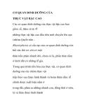 CƠ QUAN DINH DƯỠNG CỦA THỰC VẬT BẬC CAO