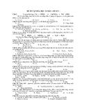 ĐỀ ÔN TẬP HÓA HỌC CƠ BẢN - ĐỀ SỐ 3