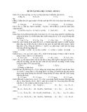ĐỀ ÔN TẬP HÓA HỌC CƠ BẢN - ĐỀ SỐ 2