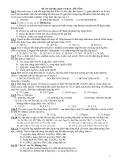 ĐỀ ÔN TẬP HÓA HỌC CƠ BẢN – ĐỀ SỐ 9