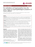 """Báo cáo y học: """"Do methadone and buprenorphine have the same impact on psychopathological symptoms of heroin addicts"""""""