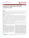 "Báo cáo y học: ""Guidelines for rating Global Assessment of Functioning (GAF)"""