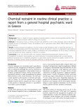 "Báo cáo y học: ""Chemical restraint in routine clinical practice: a report from a general hospital psychiatric ward in Greece"""