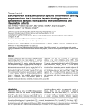 """Báo cáo y học: """"Electrophoretic characterization of species of fibronectin bearing sequences from the N-terminal heparin-binding domain in synovial fluid samples from patients with osteoarthritis and rheumatoid arthritis"""""""