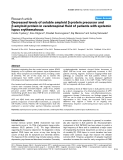 """Báo cáo y học: """"Decreased levels of soluble amyloid β-protein precursor and β-amyloid protein in cerebrospinal fluid of patients with systemic lupus erythematosus"""""""