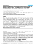 """Báo cáo y học: """"Relationship between radiographic grading of osteoarthritis and the biochemical markers for arthritis in knee osteoarthritis"""""""