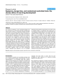 """Báo cáo y học: """"Equipoise, design bias, and randomized controlled trials: the elusive ethics of new drug development"""""""