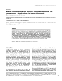"""Báo cáo y học: """" Ageing, autoimmunity and arthritis: Senescence of the B cell compartment — implications for humoral immunity"""""""
