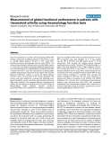 """Báo cáo y học: """"Measurement of global functional performance in patients with rheumatoid arthritis using rheumatology function tests."""""""