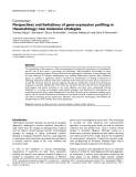 """Báo cáo y học: """"Perspectives and limitations of gene expression profiling in rheumatology: new molecular strategies"""""""