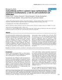 "Báo cáo y học: ""Autoantibody profile in systemic lupus erythematosus with psychiatric manifestations: a role for anti-endothelial-cell antibodies"""