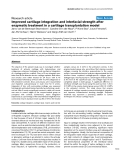 "Báo cáo y học: ""Improved cartilage integration and interfacial strength after enzymatic treatment in a cartilage transplantation model"""