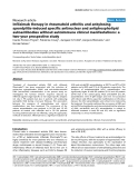 "Báo cáo y học: ""Infliximab therapy in rheumatoid arthritis and ankylosing spondylitis-induced specific antinuclear and antiphospholipid autoantibodies without autoimmune clinical manifestations: a two-year prospective study"""