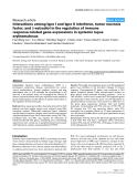 "Báo cáo y học: ""Interactions among type I and type II interferon, tumor necrosis factor, and -estradiol in the regulation of immune response-related gene expressions in systemic lupus erythematosus"""