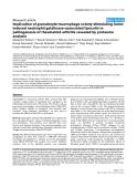"Báo cáo y học: ""Implication of granulocyte-macrophage colony-stimulating factor induced neutrophil gelatinase-associated lipocalin in pathogenesis of rheumatoid arthritis revealed by proteome analysis"""