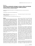 """Báo cáo y học: """"Innovative combination strategy to enhance effect and diminish adverse effects of glucocorticoids: another promise"""""""