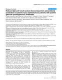 """Báo cáo y học: """"Reduced IgG anti-small nuclear ribonucleoprotein autoantibody production in systemic lupus erythematosus patients with positive IgM anti-cytomegalovirus antibodies"""""""