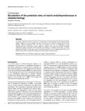"Báo cáo y học: ""Elucidation of the potential roles of matrix metalloproteinases in skeletal biology"""