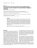 """Báo cáo y học: """"Abnormalities of B cell phenotype, immunoglobulin gene expression and the emergence of autoimmunity in Sjögren's syndrome"""""""