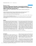 """Báo cáo y học: """"Hormone replacement therapy in rheumatoid arthritis is associated with lower serum levels of soluble IL-6 receptor and higher insulin-like growth factor 1"""""""