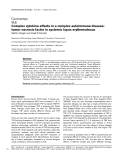 "Báo cáo y học: ""Complex cytokine effects in a complex autoimmune disease: tumor necrosis factor in systemic lupus erythematosus"""