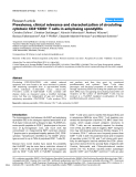 """Báo cáo y học: """"Prevalence, clinical relevance and characterization of circulating cytotoxic CD4+CD28– T cells in ankylosing spondylitis"""""""