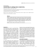 """Báo cáo y học: """"Current state of cartilage tissue engineering"""""""