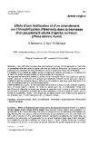 """Báo cáo khoa học: """"Effets d'une fertilisation et d'un amendement sur l'immobilisation d'éléments dans la biomasse d'un peuplement adulte d'épicéa commun (Picea abies L Karst)"""""""
