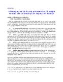 Quản lý Doanh nghiệp: CHƯƠNG 1  TỔNG QUAN VỀ QUẢN TRỊ KINH DOANH VÀ NHIỆM VỤ CHỦ YẾU CỦA NHÀ QUẢN TRỊ DOANH NGHIỆP
