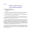 Quản lý Doanh nghiệp: CHƯƠNG 2  NHỮNG VẤN ĐỀ CƠ BẢN CỦA QUẢN TRỊ DOANH NGHIỆP