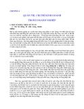 Quản lý Doanh nghiệp: CHƯƠNG 4  QUẢN TRỊ CHI PHÍ KINH DOANH TRONG DOANH NGHIỆP