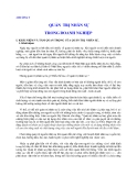 Quản lý Doanh nghiệp: CHƯƠNG 5  QUẢN TRỊ NHÂN SỰ TRONG DOANH NGHIỆP
