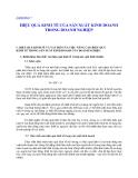 Quản lý Doanh nghiệp: CHƯƠNG 7  HIỆU QUẢ KINH TẾ CỦA SẢN XUẤT KINH DOANH TRONG DOANH NGHIỆP