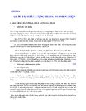 Quản lý Doanh nghiệp: CHƯƠNG 8  QUẢN TRỊ CHẤT LƯỢNG TRONG DOANH NGHIỆP