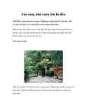 Sửa sang nhà vườn khi hè đến