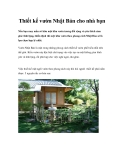 Thiết kế vườn Nhật Bản cho nhà bạn