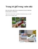 Trang trí ghế trong vườn nhà