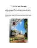 Tự thiết kế một khu vườn
