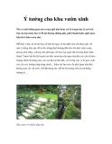 Ý tưởng cho khu vườn xinh