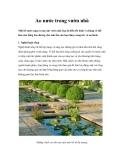 Ao nước trong vườn nhà