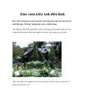 Khu vườn kiểu Anh điển hình