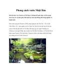 Phong cách vườn Nhật Bản
