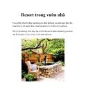 Resort trong vườn nhà
