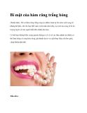 Bí mật của hàm răng trắng bóng(Xinh xinh) - Để có hàm răng trắng sáng tự