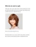 Biến tấu cho mái tóc ngắn