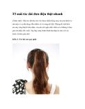 F5 mái tóc dài đơn điệu thật nhanh