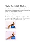 Tập thể dục để có đôi chân thon