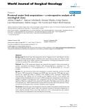 "Báo cáo khoa học: ""Proximal major limb amputations – a retrospective analysis of 45 oncological cases"""