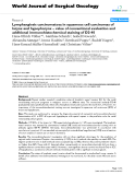 """Báo cáo khoa học: """"Lymphangiosis carcinomatosa in squamous cell carcinomas of larynx and hypopharynx – value of conventional evaluation and additional immunohistochemical staining of D2-40"""""""